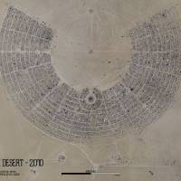 Burning Man Map 2010 Art Prints & Posters by Gonzo Earth