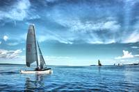 Catamarans on West Grand Traverse Bay