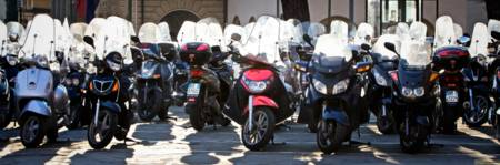Motorcycles in Siena