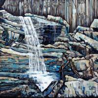 Waterfall Squared Art Prints & Posters by Joselyn Holcombe