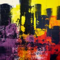 City Scape - Abstract Acrylic Art Prints & Posters by Angela Gannicott