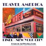 """Travel America New York City Art"" by BeaconArtWorksCorporation"