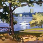 """Riverside Sailboat"" by rogerwhite"
