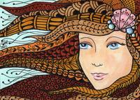 Mermaid - Zentangle Style