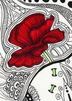 Poppy - Zentangle Style