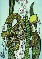 Sea Turtle - Zentangle Style