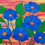"""Blue primroses"" by elajanus"
