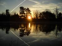 X Marks the Spot Sunrise Reflection