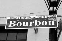 Bourbon Street Sign in New Orleans