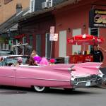 """Pink cadillac in French Quarter of New Orleans"" by ShutterbugCentral"