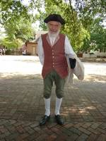 Elder colonial gentleman in Williamsburg, Virignia