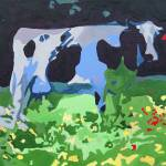 """Blue Cow with Red Tag"" by Wendy_Ferguson"