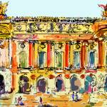 """Opera Garnier Paris Ink & Mouse Painting"" by GinetteCallaway"