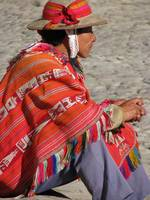 Colourful Peruvien man in the Sacred Valley