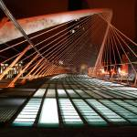 """Zubizuri bridge at night."" by JohnGaffen"