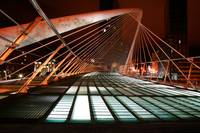 Zubizuri bridge at night.