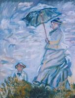Rendition of Monet, Woman with a Parasol