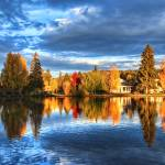 """Fall Colors on Mirror Pond"" by JohnMelton"