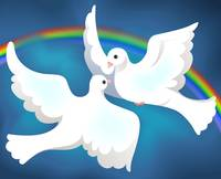 Symbol of love and peace