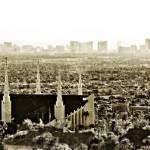 """LDS Las Vegas Temple Skyline Vintage"" by LDSTempleArt"