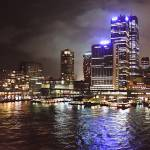 """Harbor Lights- Night Sydney, Australia"" by mjphoto-graphics"