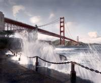Golden Gate Bridge from Fort Point, San Francisco by WorldWide Archive