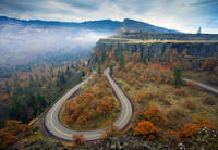 Autumn Hairpin Turn