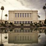 """LDS Mesa Temple Color"" by LDSTempleArt"