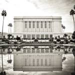 """LDS Mesa Temple B&W"" by LDSTempleArt"