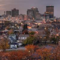 November Sunset and Dayton Skyline by Jim Crotty