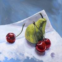 Pear and Cherries