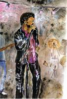 Performing Mixed Media Painting by Ginette