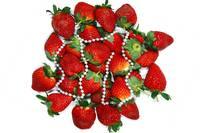 strawberry and a necklace