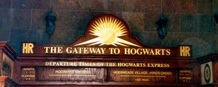 Gateway to Hogwarts Train Plaque