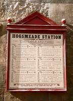 Hogsmeade Station Train Times Plaque