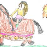 """Amelia Riding A Horse"" by Amelia_Thomas"
