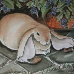 """Lop Bunny"" by revelation_art_studio"