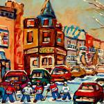 """HOCKEY GAME AT FAIRMOUNT BAGEL"" by carolespandau"