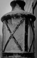 Snow covered lantern