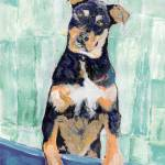 """Cody The Rottwieler Puppy by RD Riccoboni"" by BeaconArtWorksCorporation"