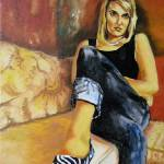 """Woman in Striped Shoes"" by myartlane"