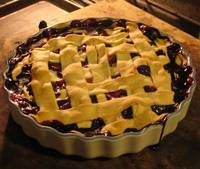 rustic berry pie