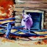 """Purple Cow"" by ArtByDianeKraudelt"