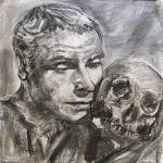 """Memento Mori - Charcoal on Canvas"" by GinetteCallaway"