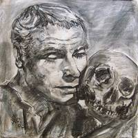 Memento Mori - Charcoal on Canvas
