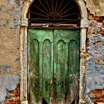 """Old Wooden Door in Venice"" by georgefairbairnphotograph"