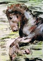 The Horse Watercolor & Ink by Ginette