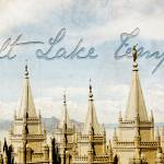"""Salt Lake Temple (Lake View - cropped)"" by brycegandy"
