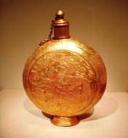 Chinese golden flask