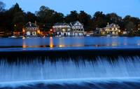 Boat House Row at Night - Philadelphia, Pennsylvan